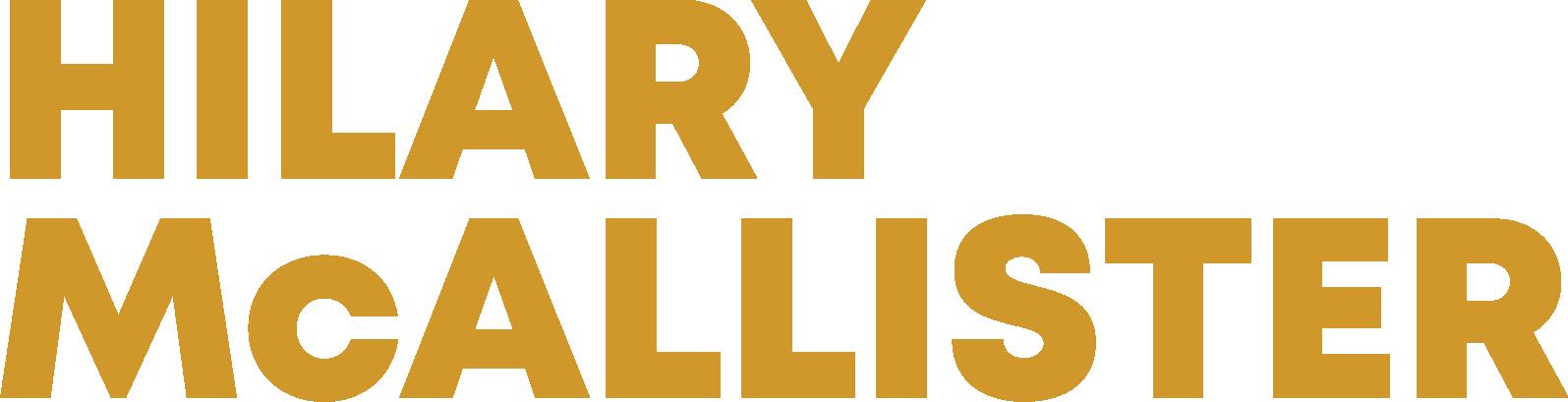 HILARY McALLISTER